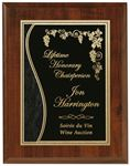 """Picture of Econo Cherry Plaque 9"""" x 12"""" with Lasered Plate"""