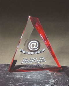 Picture of Screened Beveled Acrylic Triangle