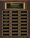 Picture of 24-Plate Scroll Border Walnut Finish Perpetual Plaque