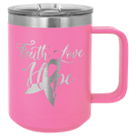 Picture of CM105 - Polar Camel 15 oz. Pink Vacuum Insulated Mug with Slider Lid