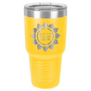 Picture of LTM7317 - Polar Camel 30 oz. Yellow Ringneck Vacuum Insulated Tumbler w/Clear Lid